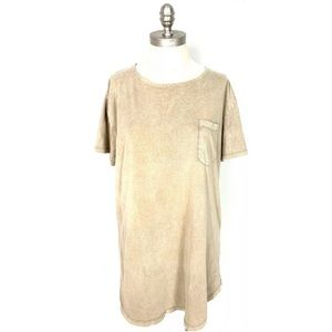 Three Feathers T-Shirt Tunic Large Anthropologie